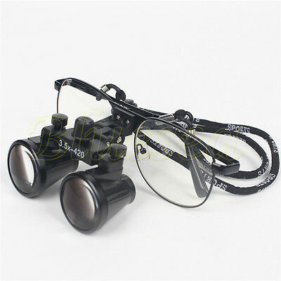 New 3.5 X 420 Dental Surgical Loupes Medical Binocular Glasses Dentist Magnifier