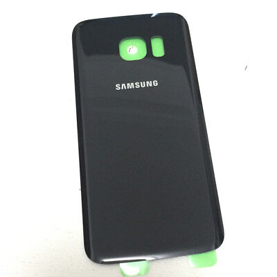Black Glass Battery Cover Rear Back Door Repair For Samsung Galaxy S7 G930F