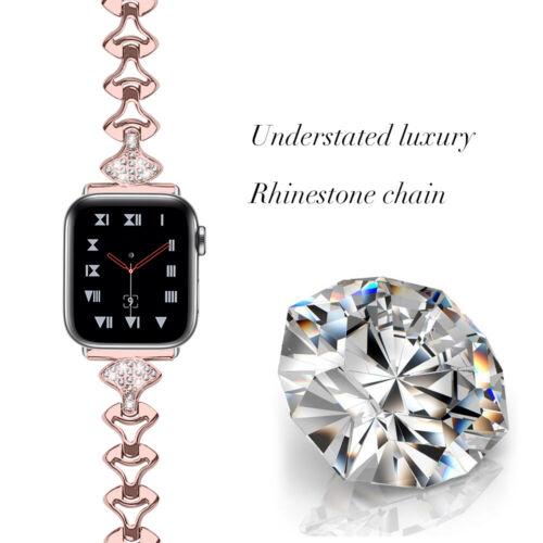 apple watch band bracelet metal bling strap