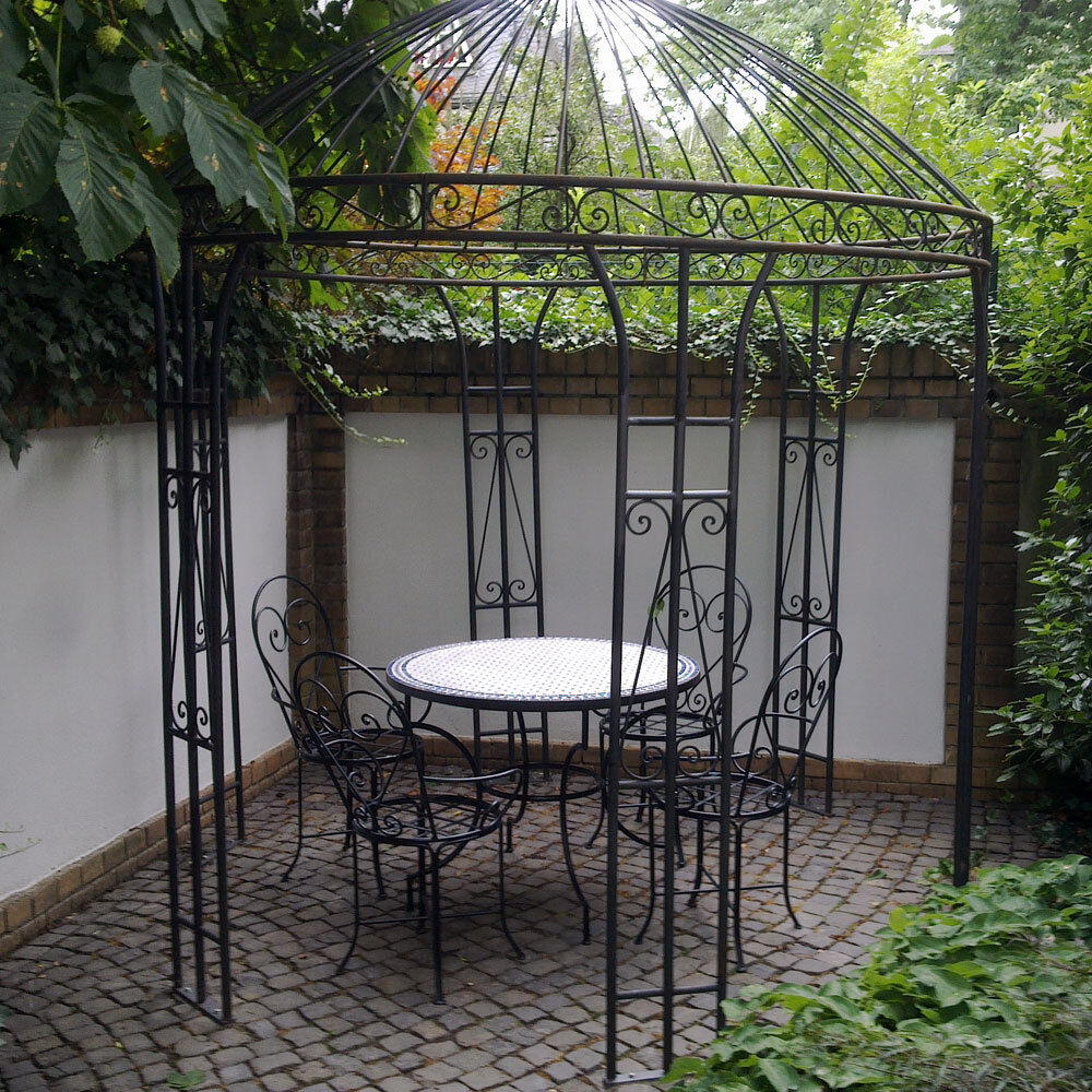 eisenpavillon gartenpavillon rosenpavillon metallpavillon pavillon eisen 260cm ebay. Black Bedroom Furniture Sets. Home Design Ideas