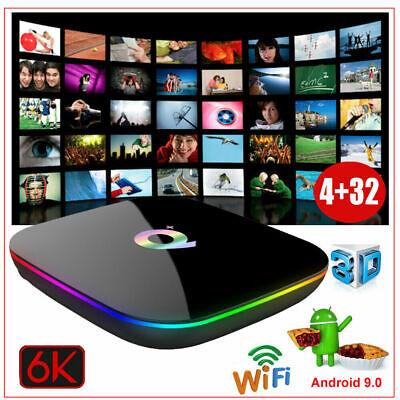 Q Plus 4+32G Android 9.0 H6 Quad Core Smart TV BOX WIFI 6K HD 3D Media Player
