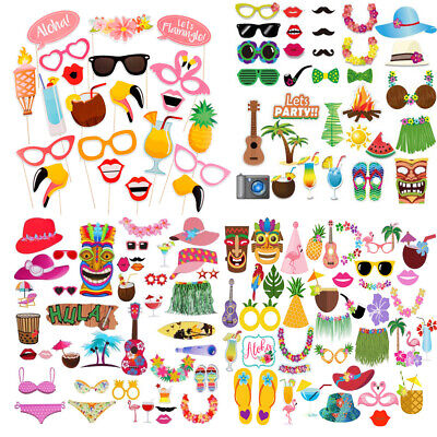 Props Set Tropical Hawaiian Hen Summer Holiday Party Game (Holiday Photo Booth Props)