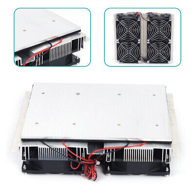 240w Semiconductor Refrigeration Peltier 4 Cold Cooling Plate Cooler For Room Us