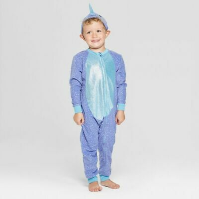 Toddler Halloween Narwhal Union Suit - Cat & Jack Blue 18M, Purple ()