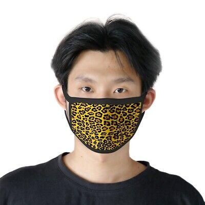 Máscara Estampado Leopardo Amarillo