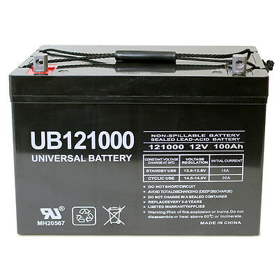 UPG 12V 100Ah Battery for AIMS Power PWRI100012S 1000W Pure Sine Power Inverter