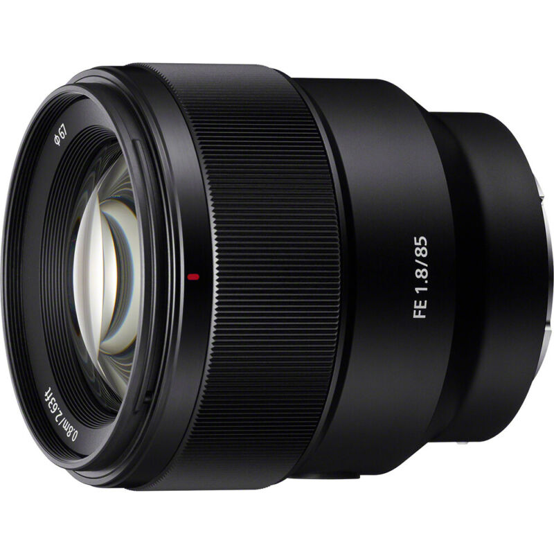 Sony 85mm F1.8-22 Full-frame E-mount Fixed Prime Lens - SEL85F18