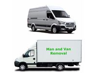 removals man and van from £15/hr , house moves , office moves /rubbish removal / furniture recycle