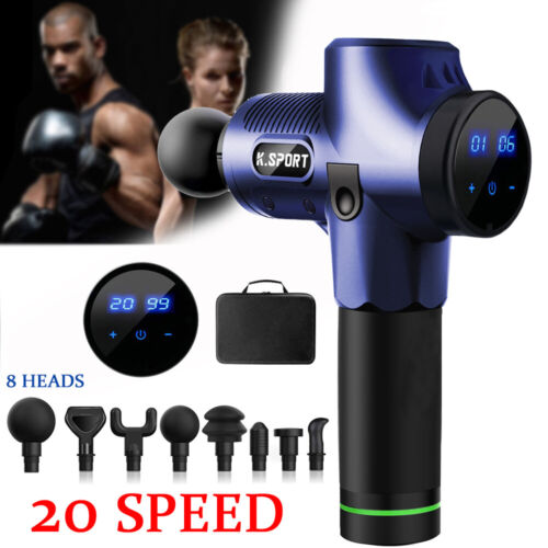 8Köpfe Electric LCD Massagepistole Massage Gun Muscle Massagegerät  Massager