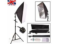 2 x Soft Box Light Stand kit