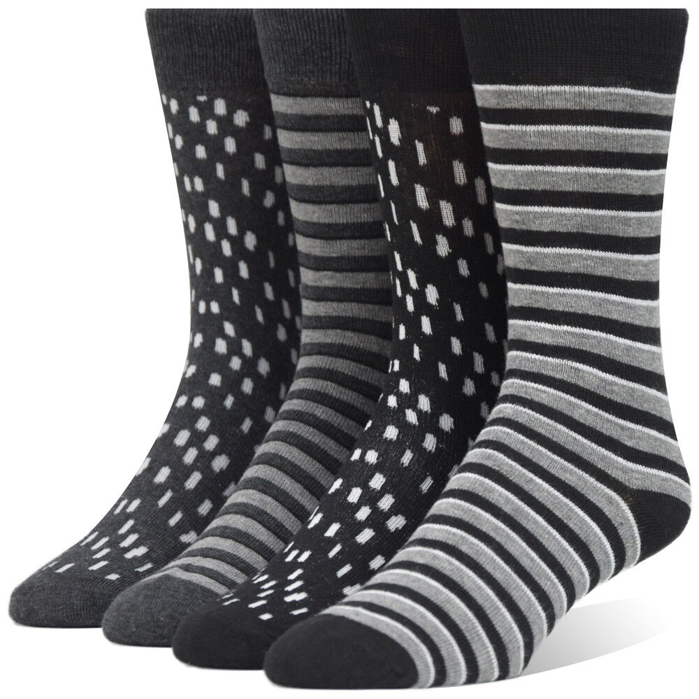 Men's Dark Gray Striped Dress Socks  Collection