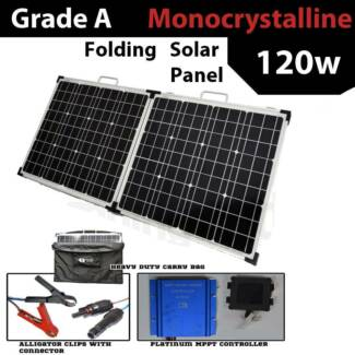 120 Watt solar Panel Kit inc regulator and padded bag Craigie Joondalup Area Preview