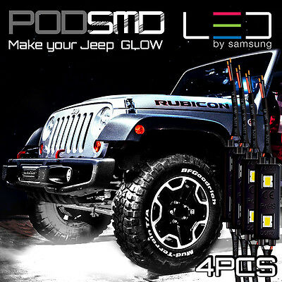 LED 4X4/OFF ROAD/JEEP Under Body Rock Lights Bright White!