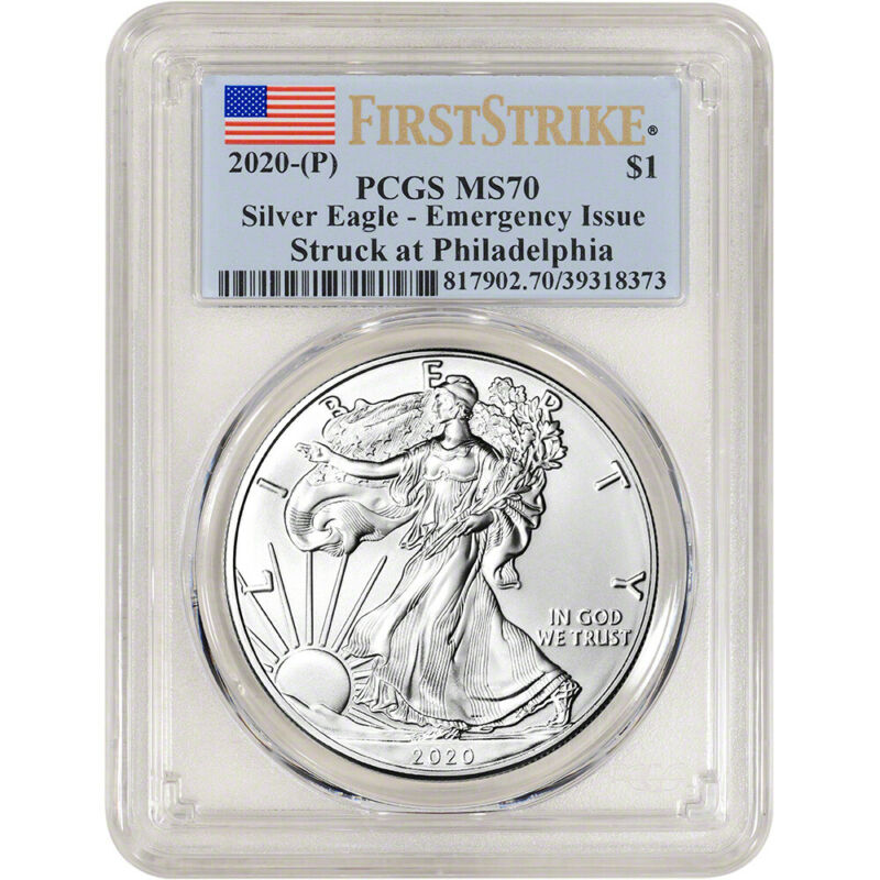 2020-(P) American Silver Eagle - PCGS MS70 First Strike Emergency Issue
