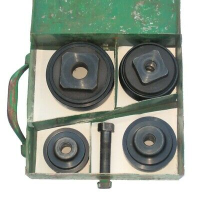 Greenlee 4pc Knockout Punch Set2 To 3 12in Original Metal Case