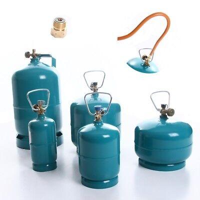 Gasflasche Propan Butan Flasche bis 5kg für Gasbrenner Grill Umfüllschlauch 1,5m - Flasche Brenner