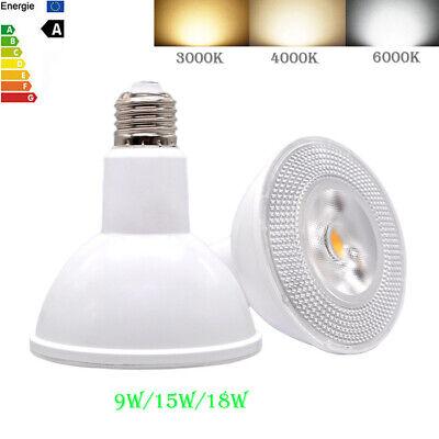 LED Spot Light Bulb PAR20 PAR30 PAR38 E27 Spotlight 9W 15W 18W 110V 220V Bright