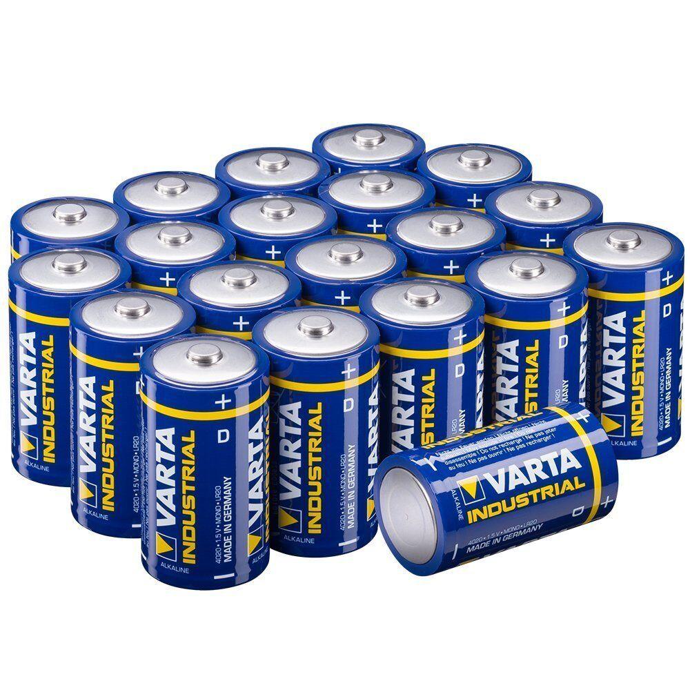 Varta Batterie D Mono Alkaline Batterien LR20 20er Pack w. High Energy Power