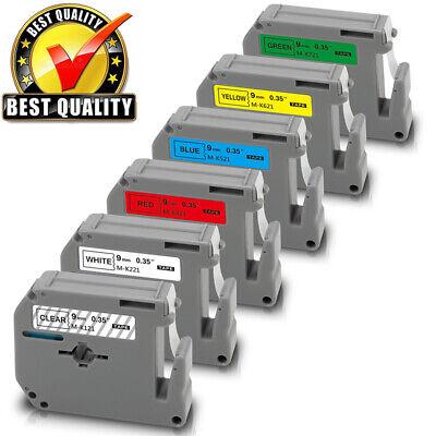 For Brother Mk221 Mk121-mk721 P-touch Pt65 Pt70 Pt80 Pt90 Label Maker M Tape 6pk