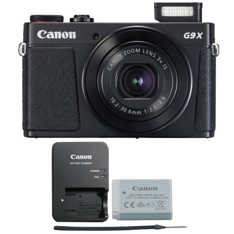 Canon G9X Mark II PowerShot 20.1MP Digital Camera (Black)