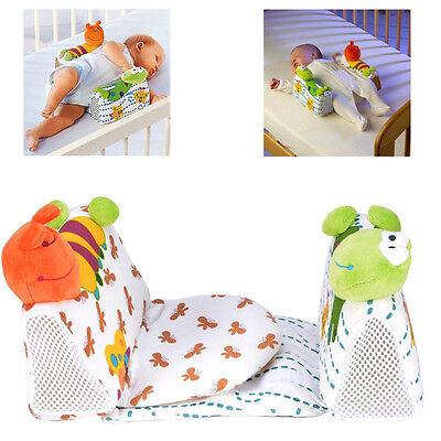 USStock Baby Newborn Anti Roll Pillow Sleep Positioner Prevent Flat Head Cushion
