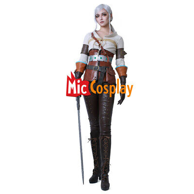 Ciri Cosplay Costume of The Witcher 3: Wild Hunt  Anime Women Outfit](Anime Woman Costume)