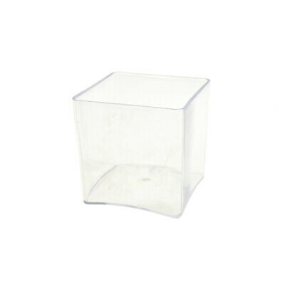 Clear Plastic Square Vase Display, 4-Inch x 4-Inch](Clear Plastic Vase)