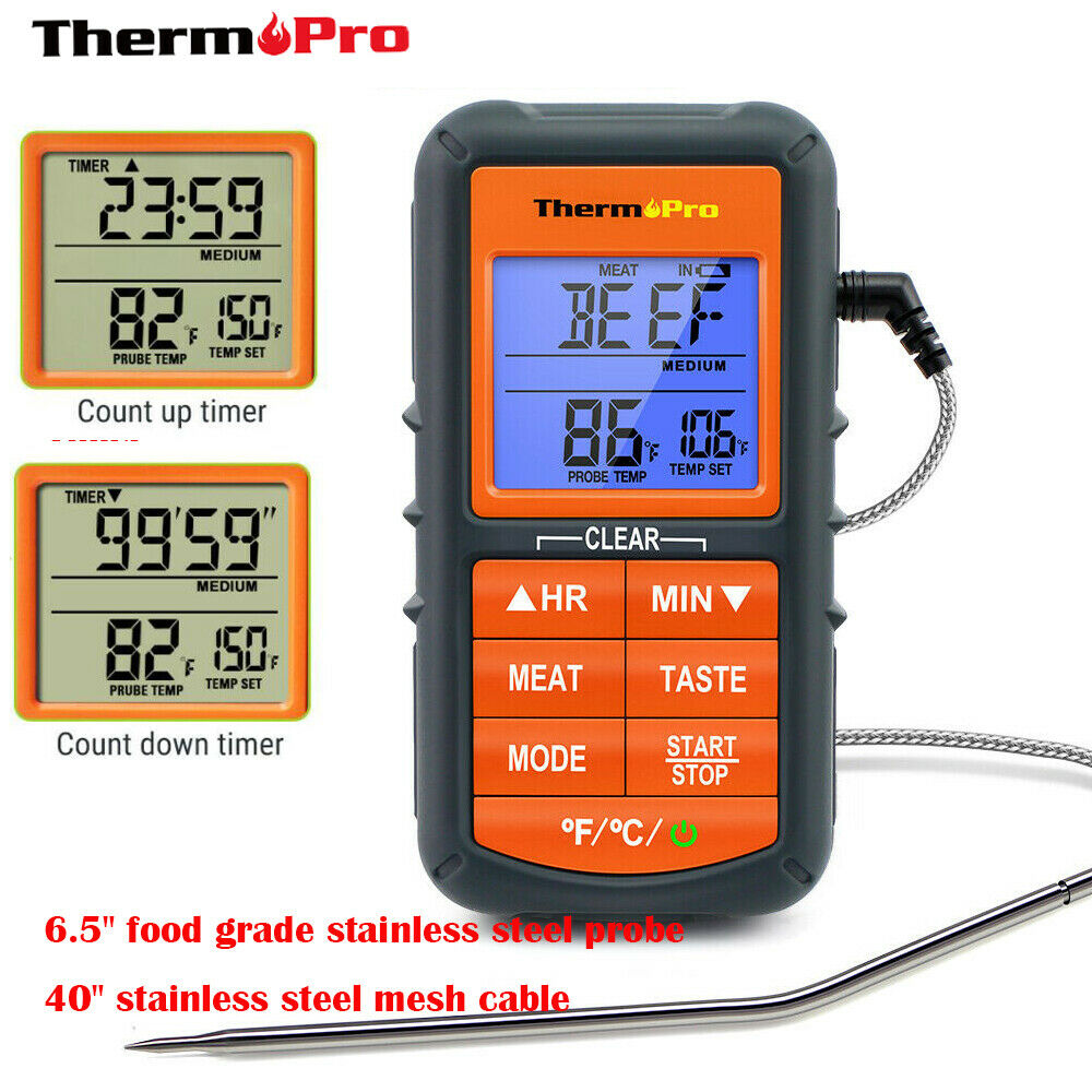 Meat Thermometer Digital with cableLCD Cooking Oven Grill Th