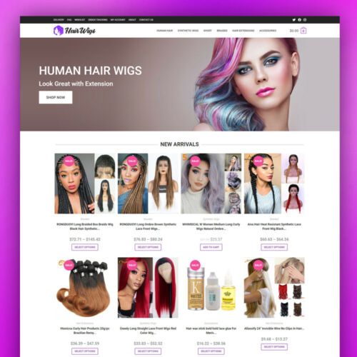 Hair & Wigs Dropshipping Store - Ready To Go Website - Turnkey Business For Sale