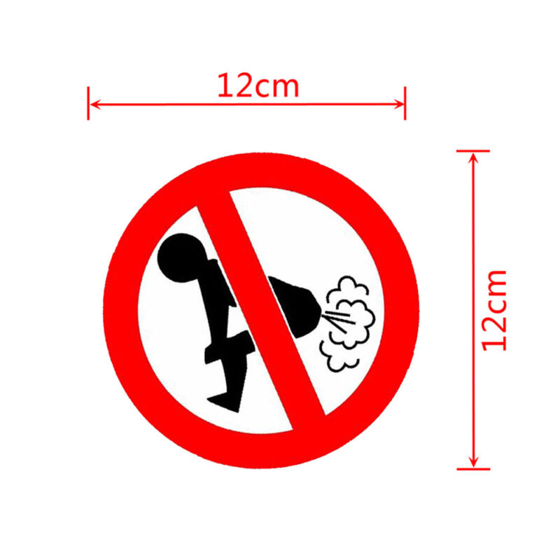 Text Word 12CM*12CM Funny Car Sticker Auto Decoration No Farting Body Decal New~