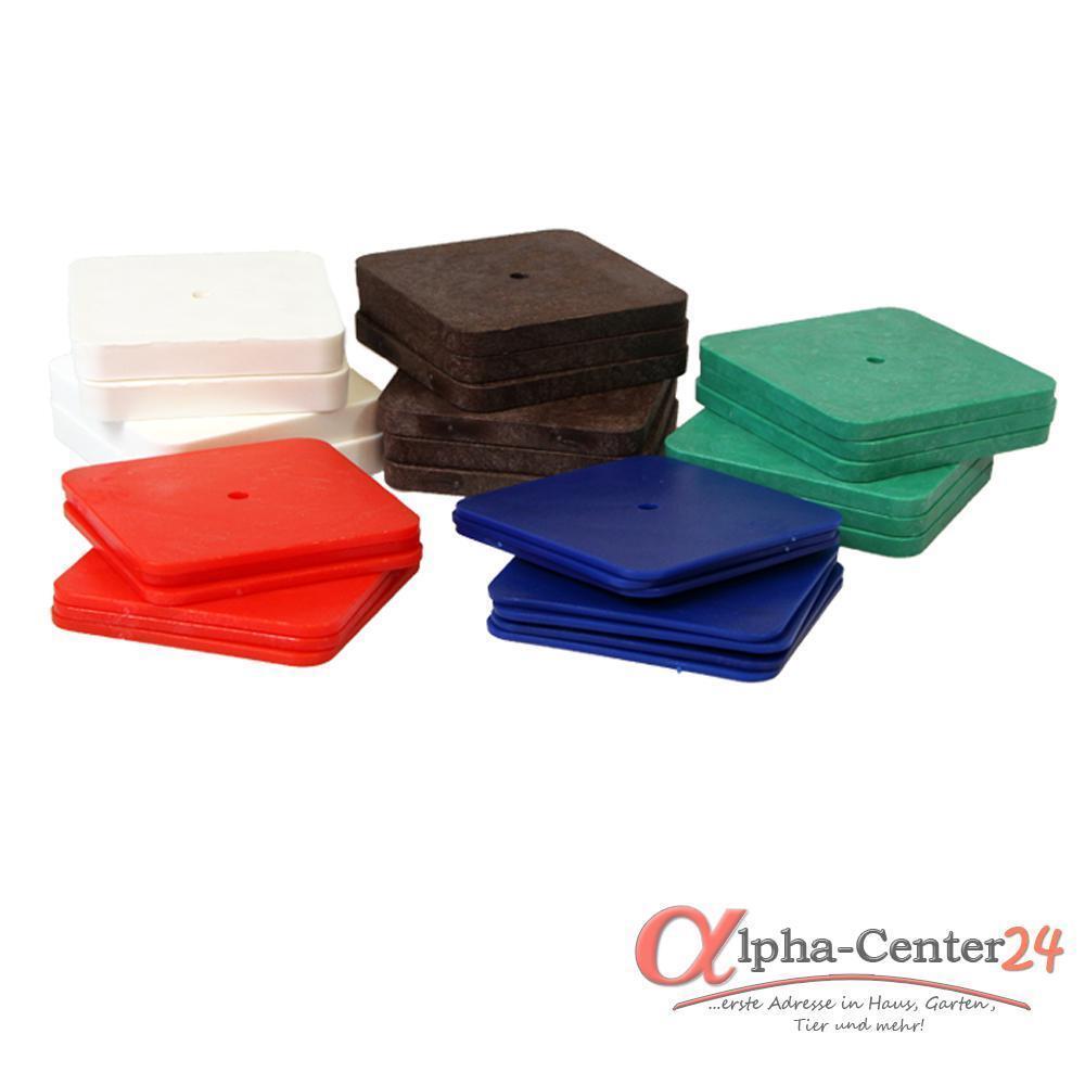 250 Kunststoff Unterlegplatten 70x70 Ausgleichsplatten Niveauausgleich Distanz