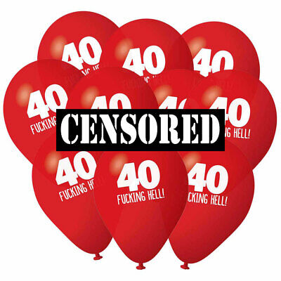 40th Birthday Balloons Pack 10 Accessories Decorations Party Props Men - Mens 40th Birthday Decorations