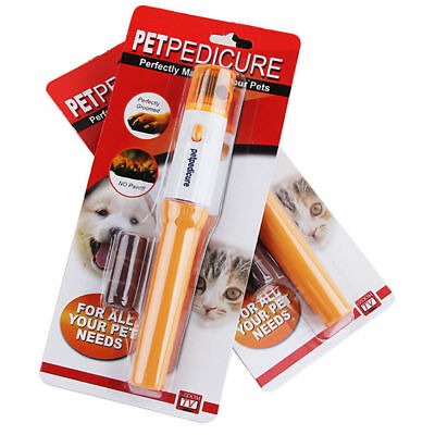 Dog Cat Electric Nail Grooming Grinder Safe Trimmer Clipper Nail File Pet Claw ()