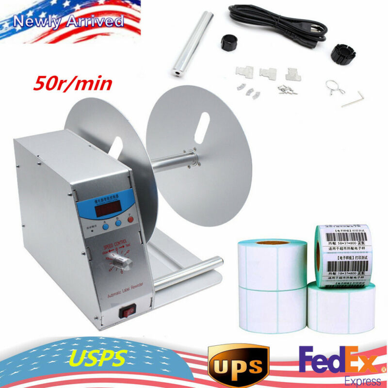 Automatic Label Tag Rewinder Universal Label Printers Adapted Rewinding Machine
