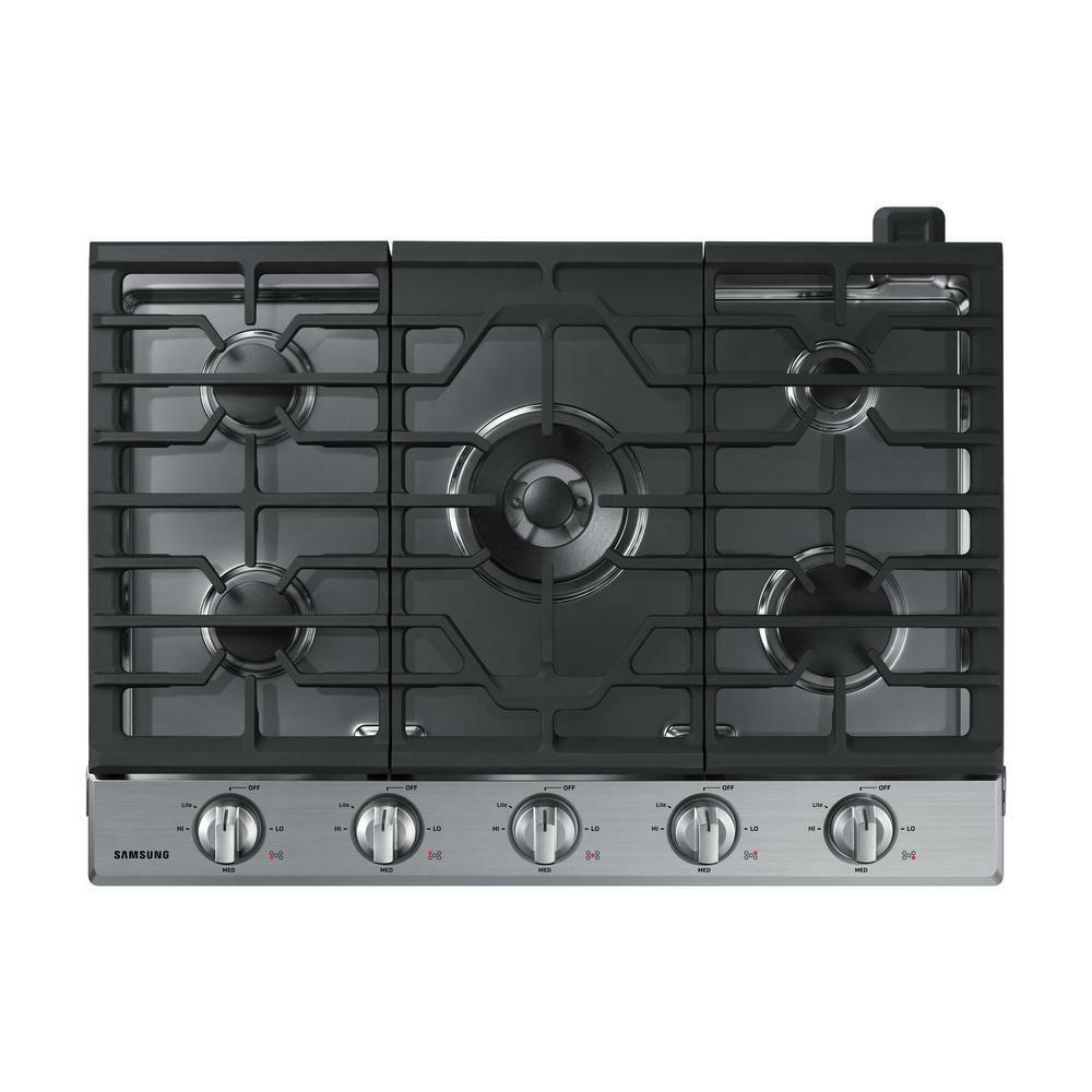 "Samsung NA30N6555TS 30"" Gas Cooktop in Stainless Steel w 5 B"