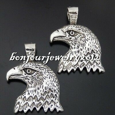 237dd8200cb 50470 Vintage Silver Alloy Bald Eagle Head Pendants Findings Crafts Charms  7x
