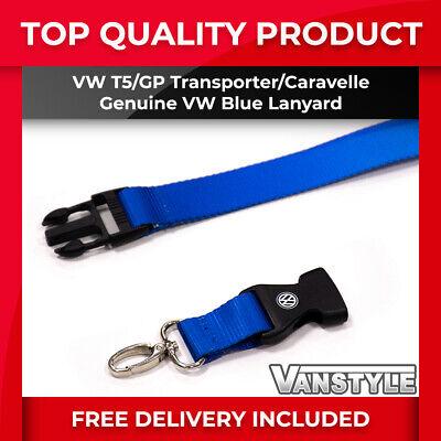 T5 TRANSPORTER GENUINE VW VOLKSWAGEN BLUE LANYARD KEY FOB HARD WEARING BUCKLE