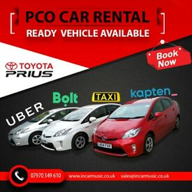 Toyota Prius Car Hire Uber Bolt Kapten Ready Rental Car for PCO Mini Cab Rent