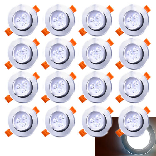 20x 3W LED Spot Einbauleuchte Einbaustrahler Decken Lampe Strahler Kaltweiß IP44