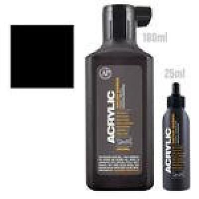 Montana Acrylic Paint Marker Refill 180ml Black, New, Free S