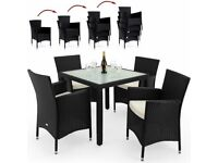 **FREE UK DELIVERY** German New Edition Poly Rattan Garden Set with Stackable Chairs - BRAND NEW