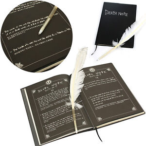Cosplay Notebook Death Note Feather Pen Book Anime Writing Journal Diary Record