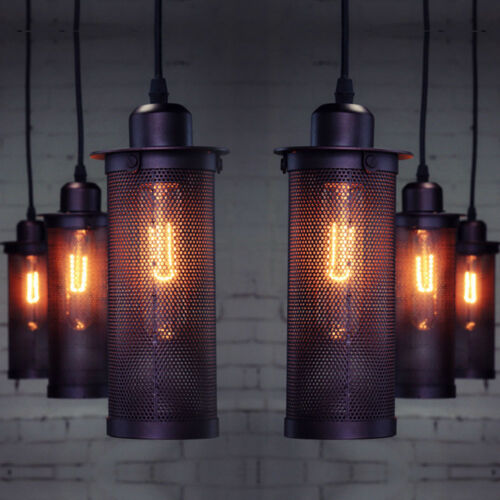 Industrial Iron Chandelier Lamp Sconces Down Light Pendant