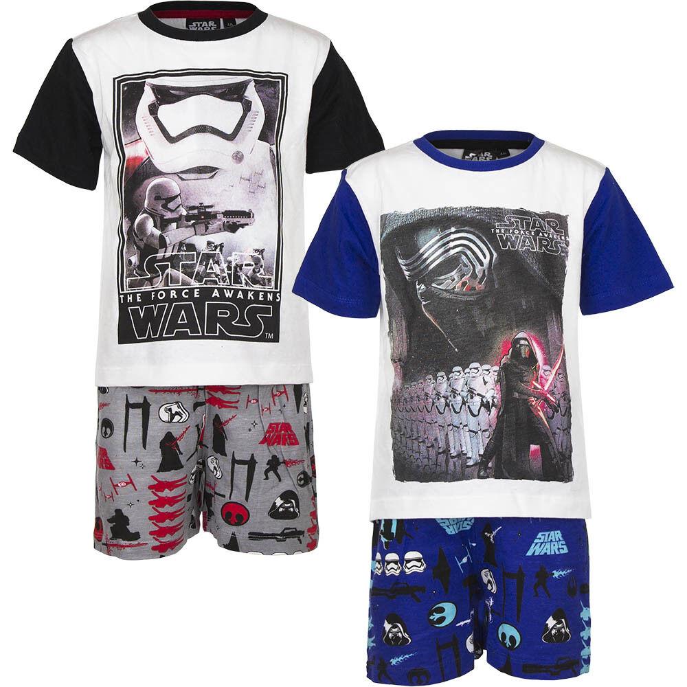 acdd45ac24 Disneys Star Wars Pyjama Set Schlafanzug Shorty für Jungen Gr. 4-10 Jahre*