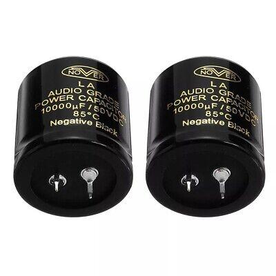 One Pair 10000uf 50v Audio Power Filter Capacitor Amplifier Hifi 35x35mm