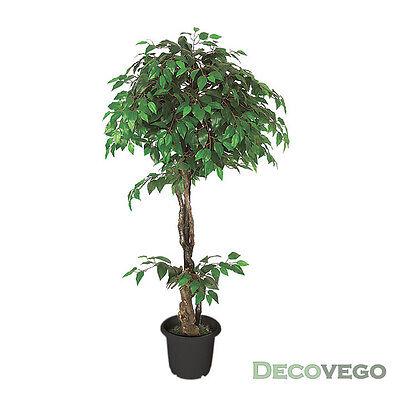 Ficus Benjamin Kunstpflanze Kunstbaum Künstliche Pflanze 160cm Decovego