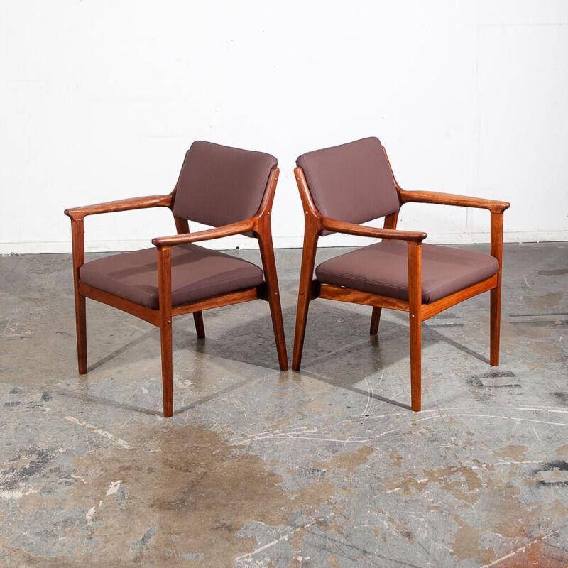Mid Century Modern Lounge Chairs Kosuga Japan Armchair Set Reupholstered Vintage