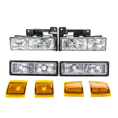Headlights & Parking Lights for 1990-1993 Chevy Suburban C1500/2500/3500 Truck