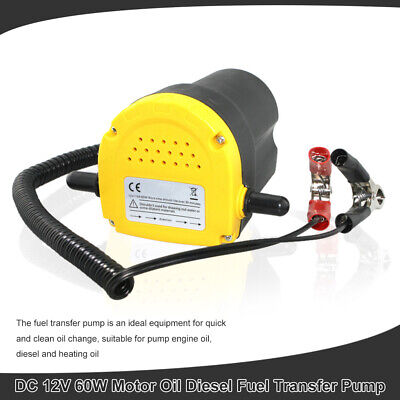 12v 60w Portable Car Fuel Transfer Pump Fluid Extractor Diesel Oil Gas Kit M5y5