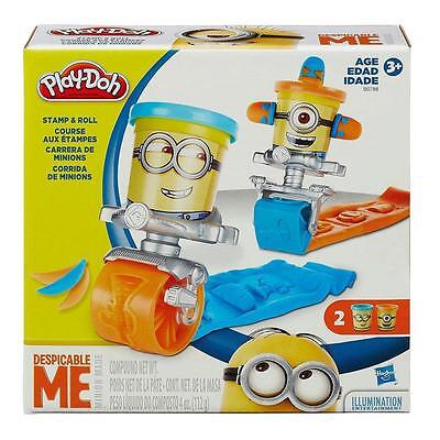 PLAYDOH MINIONS STICK STAMP AND ROLL PLAY SET NEW